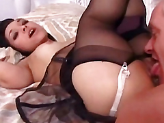 Mature man fucks Bridget Midget