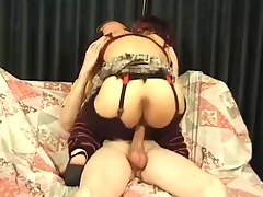 Midget- Bridget Powers take On A Chubby Cock